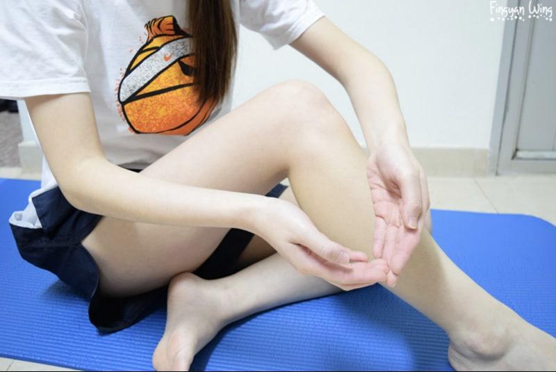 瘦小腿,▲手势应该是将双手作一个U字形
