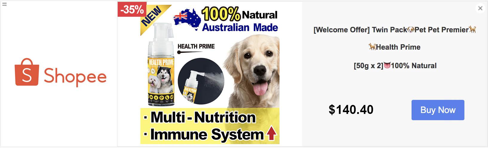 Shopee - Pet Pet Premier, Joint Prime, Health Prime, 狗狗神仙粉, 關節神仙粉, 狗保健品